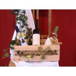 Präsentkorb für Wein